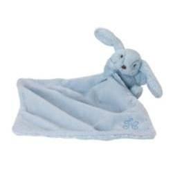 Augustin le lapin-doudou bleu
