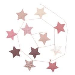 Guirlande mini etoiles-mix pink