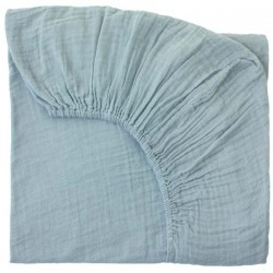 Drap housse 60x120-sweet blue