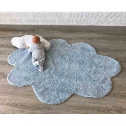 Tapis puffy dream bleu 110x170cm