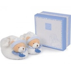 Ours petit chou-chaussons hochet 6/12m