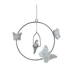 Bohemian swing mobile-silver grey