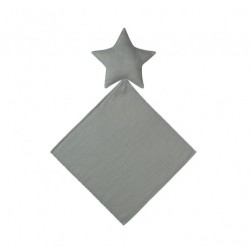 DOUDOU LOVEY STAR-SILVER GREY