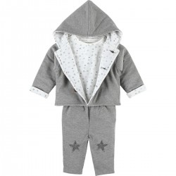 COCON SET MANTELET GRIS